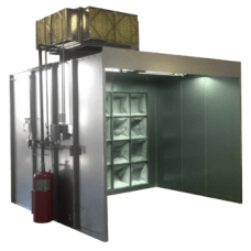 Powder Coating Booth - Three Stage Filtration Style